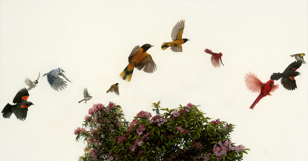 Songbirds, painting