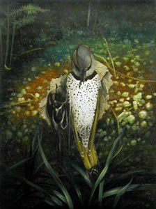 Flicker with Companion,   20 x 15 inches,  oil on linen *