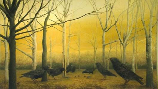 Grove,    40 x 70 inches,  oil on linen,  2007 *