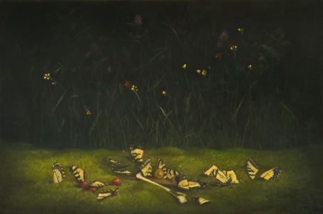 Swallowtail,   19 x 30 inches,  oil on linen *